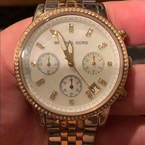Michael Kors Women's Ritz Chronograph Crystal